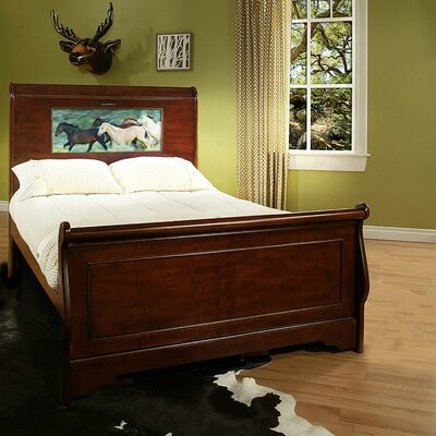 Edgewood Sleigh Bed Size: Full, Finish: Cheshire Cherry