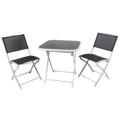3 Piece Bistro Set Finish: Dark Gray