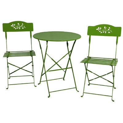3 Piece Bistro Set Finish: Lime Green