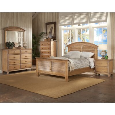 Irish Countryside Panel Headboard Size: King, Color: Sand Wash