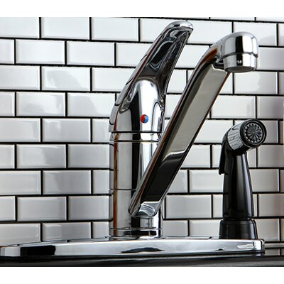 Single Handle Kitchen Faucet Deck Spray: With Spray