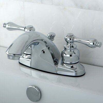 English Country Double Handle Centerset Bathroom Faucet with ABS Pop-Up Drain Finish: Polished Chrome