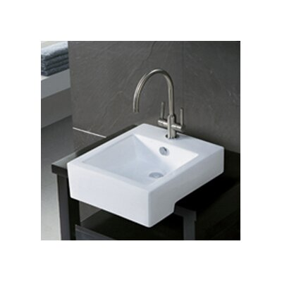 Citadel Ceramic 19 Wall Mount Bathroom Sink with Overflow Sink Finish: White