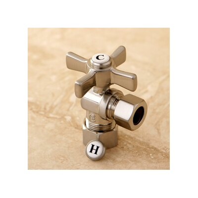 Millennium 0.63 OD Compression x 0.5 OD Compression Angle Valve Finish: Satin Nickel
