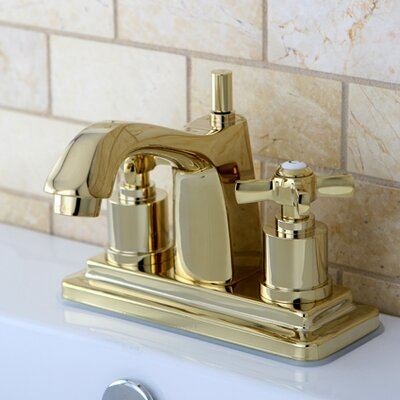 Millennium Double Handle Centerset Bathroom Faucet Finish: Polished Brass