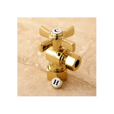 Millennium 0.63 OD Compression x 0.38 OD Compression Angle Valve Finish: Polished Brass