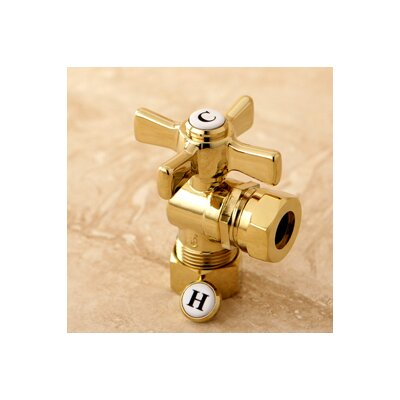 Millennium 0.63 OD Compression x 0.5 or 0.44 Slip Joint Angle Valve Finish: Polished Brass
