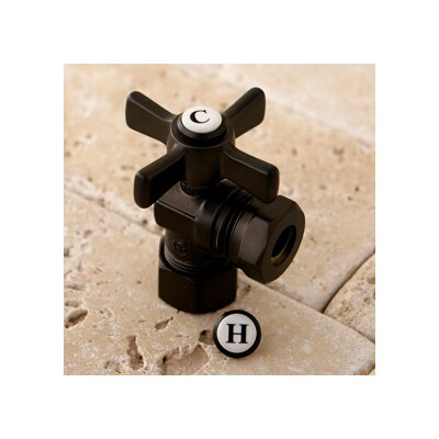 Millennium 0.63 OD Compression x 0.5 or 0.44 Slip Joint Angle Valve Finish: Oil Rubbed Bronze