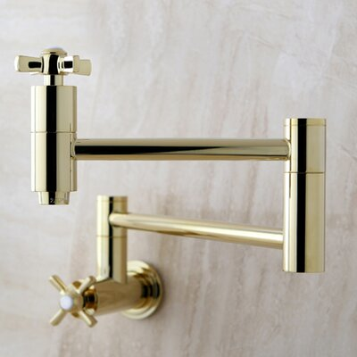 Millennium Pot Filler Finish: Polished Brass