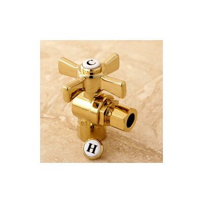 Millennium 0.5 Sweat x 0.38 OD Compression Angle Valve Finish: Polished Brass