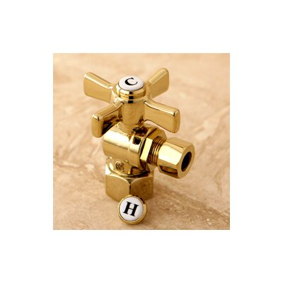 Millennium 0.5 FIP x 0.38 OD Compression Angle Valve Finish: Polished Brass
