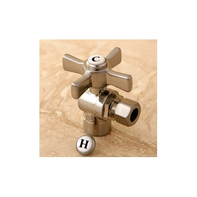 Millennium 0.5 Sweat x 0.38 OD Compression Angle Valve Finish: Satin Nickel