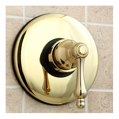 Vintage Wall Volume Control Valve Finish: Polished Brass