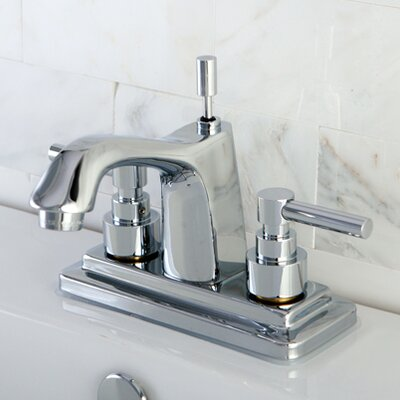 Elinvar Double Handle Centerset Bathroom Faucet with Brass Pop-Up Drain