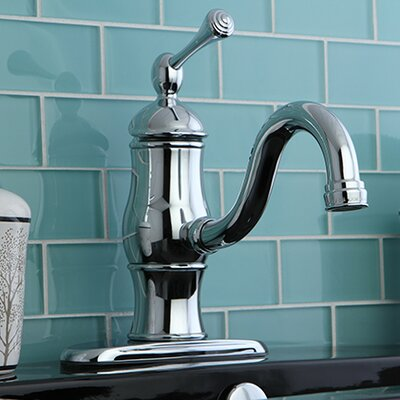 Heritage Single Handle Bathroom Faucet with Push-Up Drain