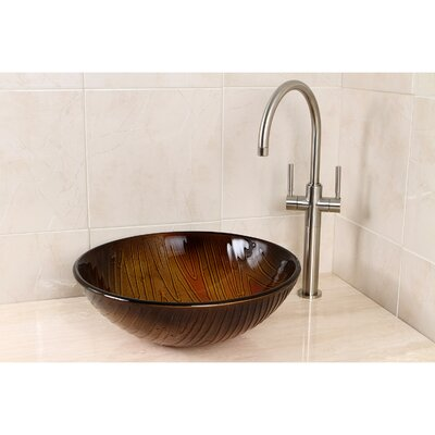 Fauceture Circular Vessel Bathroom Sink Sink Color: Amber Stone