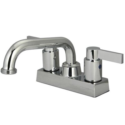 Nuvo Fusion Double Handle Kitchen Faucet Finish: Polished Chrome