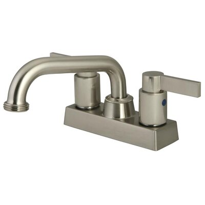 Nuvo Fusion Double Handle Centerset Kitchen Faucet Finish: Satin Nickel