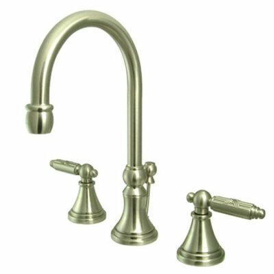 Governor Double Handle Widespread Bathroom Faucet with Pop-Up Drain