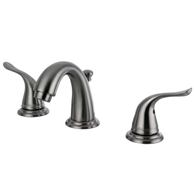 Yosemite Double Handle Mini Widespread Bathroom Faucet with Pop-Up Drain Finish: Satin Nickel