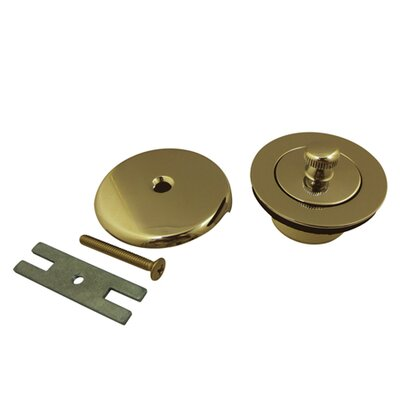 Made to Match Lift and Turn Tub Drain With Overflow Finish: Polished Brass