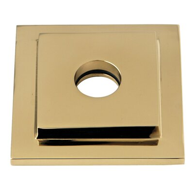 Claremont Heavy Duty Square Solid Cast Brass Shower Flange Finish: Polished Brass