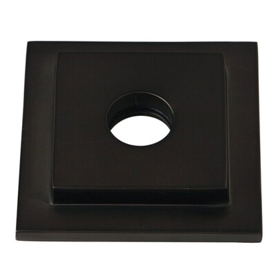 Claremont Heavy Duty Square Solid Cast Brass Shower Flange Finish: Oil Rubbed Bronze