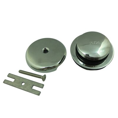 Made to Match Toe Touch Bathroom Sink Drain With Overflow Finish: Polished Chrome