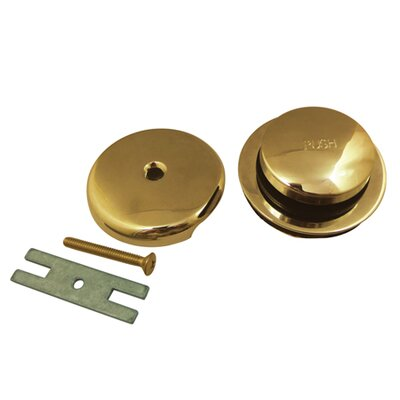 Made to Match Toe Touch Bathroom Sink Drain With Overflow Finish: Polished Brass