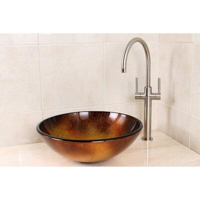 Fauceture Circular Vessel Bathroom Sink Sink Color: Copper Sun