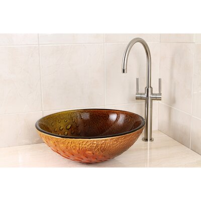 Fauceture Glass Circular Vessel Bathroom Sink