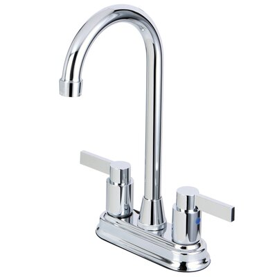 Nuvofusion Double Handle Kitchen Faucet Finish: Polished Chrome