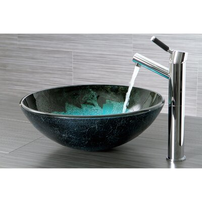 Fauceture Turquoise Space Circular Vessel Bathroom Sink