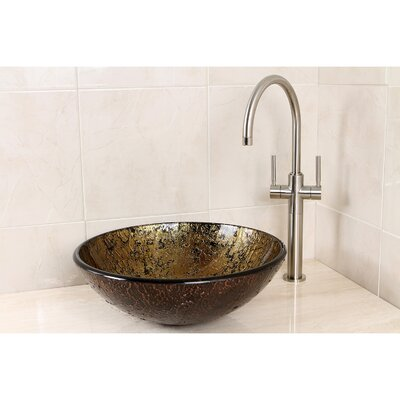 Palermo Glass Circular Vessel Bathroom Sink