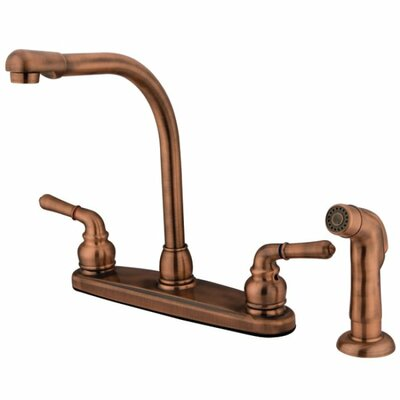 Magellan Double Handle High Arch Kitchen Faucet Side Spray: With Spray