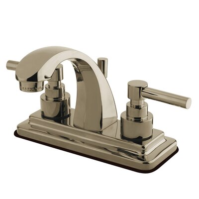 Elinvar Double Handle Centerset Bathroom Faucet with Pop-Up Drain Finish: Nickel