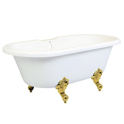 Aqua Eden 67 x 27.94 Soaking Bathtub Finish: Polished Brass