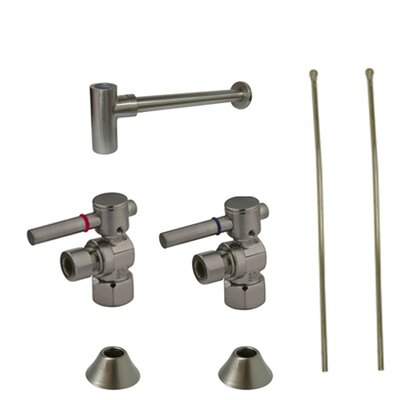 Trimscape Contemporary Plumbing Sink Trim Kit Finish: Satin Nickel