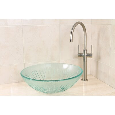 Constellation Glass Circular Vessel Bathroom Sink