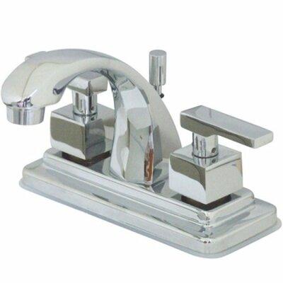 Executive Double Handle Centerset Bathroom Faucet with Pop-Up Drain