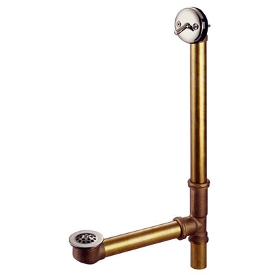 Made to Match Trip Lever Waste and Overflow with Grid Finish: Satin Nickel