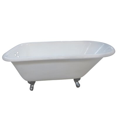 Aqua Eden 66 x 30.13 Soaking Bathtub Finish: Chrome