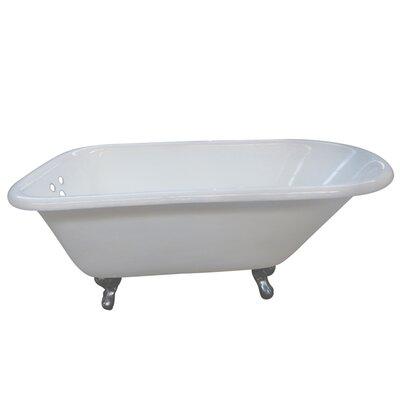 Aqua Eden 54 x 30.13 Soaking Bathtub Finish: Chrome