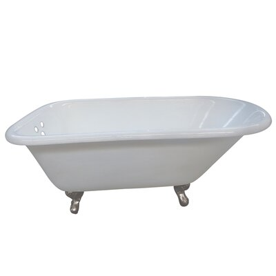 Aqua Eden 54 x 30.13 Soaking Bathtub Finish: Satin Nickel