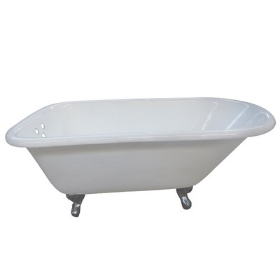 Aqua Eden 60 x 30.13 Soaking Bathtub Finish: Chrome