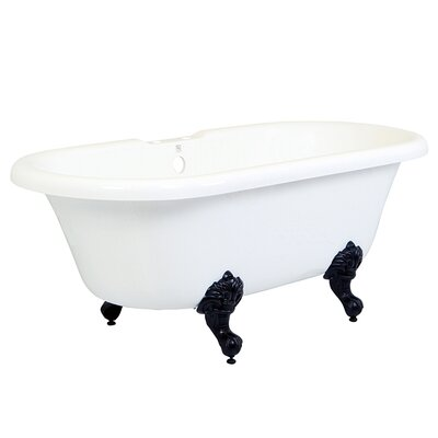 Aqua Eden 67 x 27.94 Soaking Bathtub Finish: Oil Rubbed Bronze