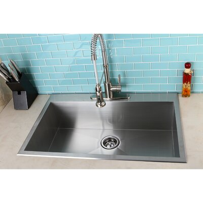 Uptowne 33 x 22 Self-Rimming Single Bowl Kitchen Sink