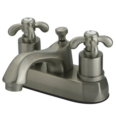French Country Double Handle Centerset Bathroom Faucet with Pop-Up Drain Finish: Satin Nickel