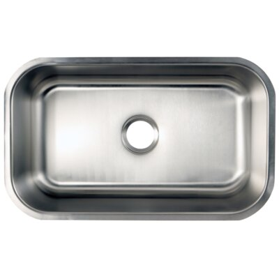 Loft 18.06 x 30 Gourmetier Undermount Single Bowl Kitchen Sink