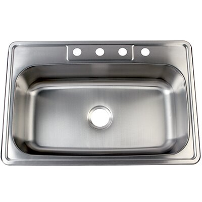 Studio 22 x 33 Gourmetier Self Rimming Single Bowl Kitchen Sink
